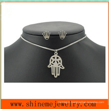 Ensemble de bijoux à base de titane en acier inoxydable en acier inoxydable Collier en main simple à ongle (SSNL2647)