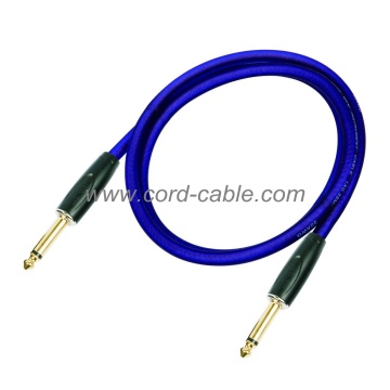 DFS serie profesional del instrumento guitarra Cable Jack a Jack azul