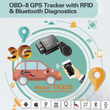 Чтение кода ошибки Canbus GPS OBD2 Tracker с сигналом 2.4G RFID Tk228-Ez