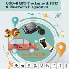 2016 Nuevo perseguidor del coche de OBD2 / OBD GPS con el diagnóstico de Bluetooth, alto Anti-Tamper (TK228-EZ)