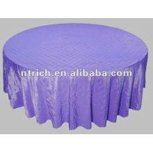 charmant pintuck mariage taffetas rond/carré nappe, couverture de table pintuck violet/purple