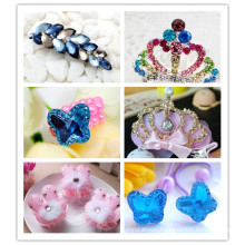 Fancy Glass Stones Beads for Hair Decoration