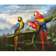 Venta al por mayor pintura al óleo animal loro