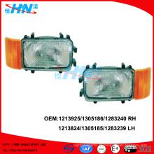 Lâmpada principal com lâmpada de canto 1213924/1305185/1283239 LH 1213925/13051861/1283240 RH para peças de camião DAF
