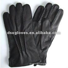 plain Winter Leather Gloves for man