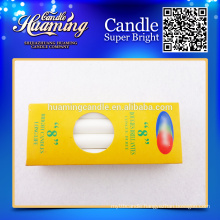 White Candles,Paraffin Wax Candle, Box Package