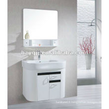 warm& love &harmonious family gloss white&black hanging or wall mounted bathroom cabinet bathroom vanity