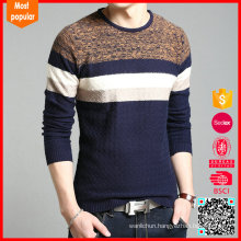 mens winter warm pullover stripe cashmere sweater knitting pattern