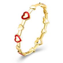 Herz-Inset Imitation Gold überzogene Armband-Schmucksachen
