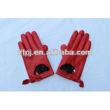 2016 Hot Sale rouge fille courte conduisant des gants en cuir de conduite en Chine