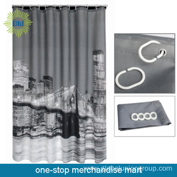 Waterproof  Luxury Shower Curtain With City Design