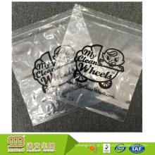 O logotipo feito sob encomenda de alta qualidade imprimiu o saco poli claro da aleta do selo do auto da eco-amigável