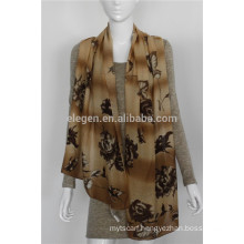mercerized wool flower printing scarves