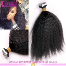 Pode ser tingido 100% brasileiro fita extensões de cabelo cabelo extensões kinky fita direto barato
