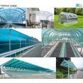 600 hoja de invernadero con hoja de policarbonato y marco de aluminio