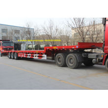 Multi axles 40ft flatbed iso container trailer