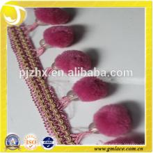Estoque rosa Fringe para vestidos e decoração de casa