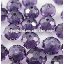 Perles de verre en cristal Rideaux, perles de rondelle de haute qualité