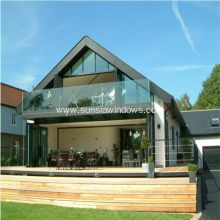Safety Glass Balustrade with Aluminum U Channel