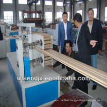 ce certification greenerwood pvc wpc lesco profile machine