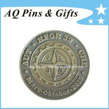 Moneda del desafío con la galjanoplastia de plata antigua (coin-092)