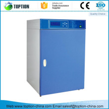 Co2 microorganism incubator with UV light for periodic sterilization