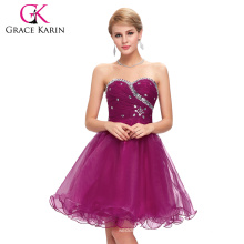 Grace Karin New Design Gown Voile Above Knee Beaded Sexy Cocktail Dresses CL4503-5