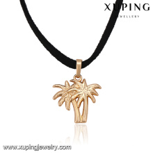 43814 xuping unique new models 18k gold special pendant necklace body jewelry making supplies