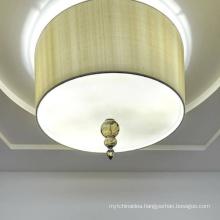 Custom project modern decoration round glass large meeting room led chandelier pendant light