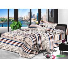100% tela de algodón para hotel con diseño de franja