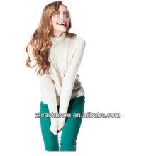 Pullover elegante, suéter de la cachemira de las señoras elegantes