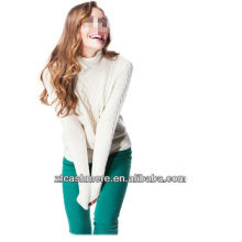 Elegant ladies cashmere plain Pullover,sweater