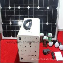 Système d'éclairage solaire de la maison 50W pour l'intérieur ou le camping