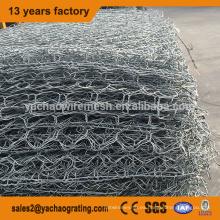 caja de gaviones de malla de alambre hexagonal galvanizado de alta calidad