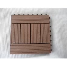 Las tejas de piso baratas del patio del jardín de la alta calidad WPC DIY tejan