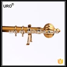 Beste Qualität 35mm goldene Papier Eisen Vorhang Stangen