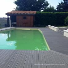 Assoalho da arte 3d do assoalho recuperou a plataforma da piscina exterior do assoalho de madeira de carvalho