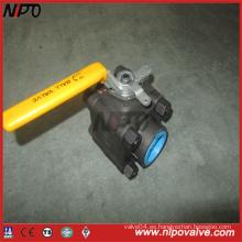 A105 Válvula de bola roscada NPT de acero forjado