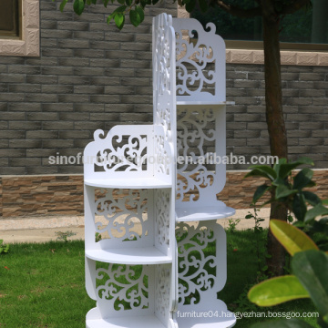 New Material, waterproof WPC white baroque shelf