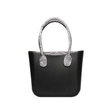 Women classic black EVA custom tote handbags