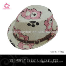 straw paper bear hat for kids