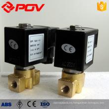 Válvula solenoide en miniatura normalmente cerrada de alta presión 24vdc