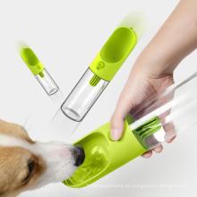 Botella portátil del dispensador del agua del viaje del animal doméstico 400ml al aire libre