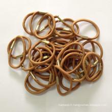 Bandes élastiques pour cheveux avec métal à sertir (HEAD-171)