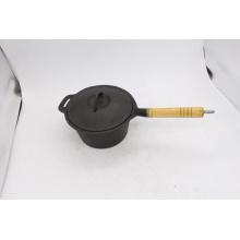 Чугунные кастрюли с деревянной ручкой для приготовления пищи