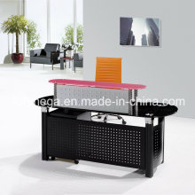Black Glass Reception Desk (FOH-YTJ-8006)