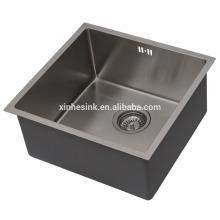 Évier de cuisine en acier inoxydable fait à la main R10 / R15 / R19, mesure en acier inoxydable SUS 304 16/18