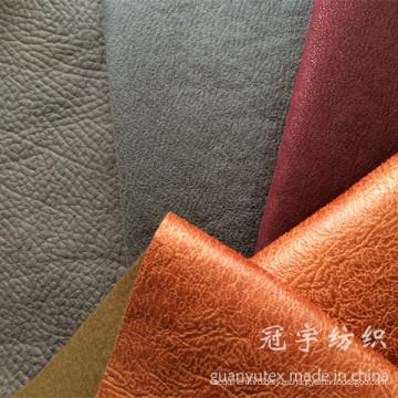 Imitación de cuero 100% poliéster para el hogar sofá telas