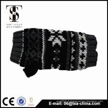 Gilet tricot jacquard à neige à la mode
