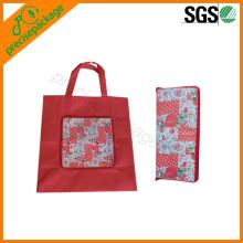 Saco de compras não tecido dobrável com zip para promoção no alibaba